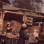 SL-O-5-15-5 Oswestry - Herb Farm Stall & Stall Holder in Period Costume