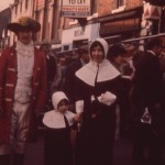 SL-O-5-15-6 Oswestry - Bailey St - Couple & Child in Costume