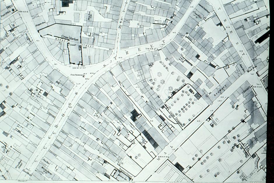 SL-O-5-7-14 Oswestry - Cross St - Map c1875