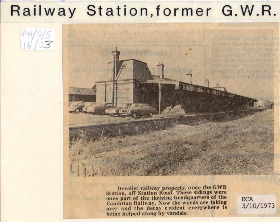 PH-O-5-16-23  Former GWR Station off Station Road (Advertiser 3 Oct 1973)