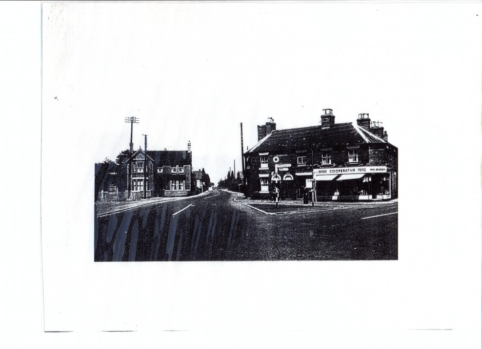 PH-G-1-7 Co-operative Shop looking in direction of Derwen College, c.1950-60s