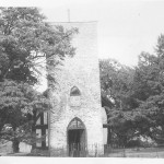 PH-H-4-3  Halston Chapel, view of west end, showing tower, 1963