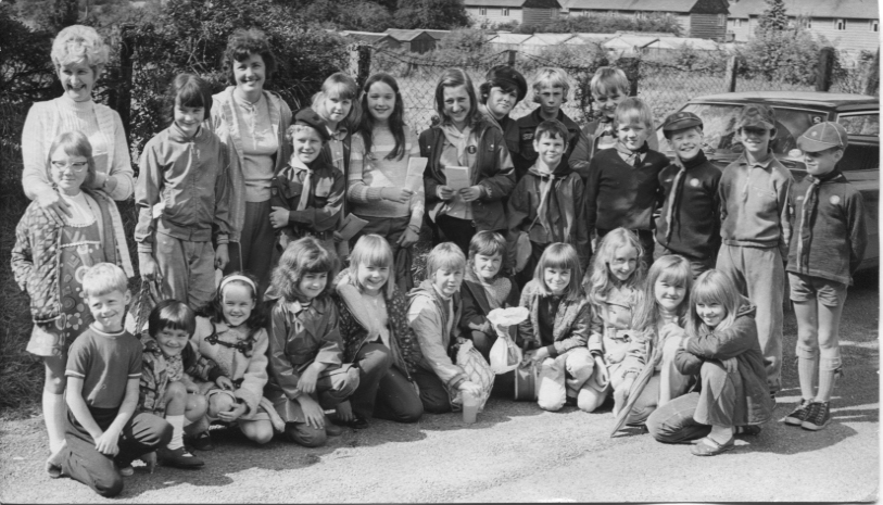 PH-C-14-18 -  Chirk Brownies, Cubs and Scouts on sponsored walk (BCA 12 Sep 1973)