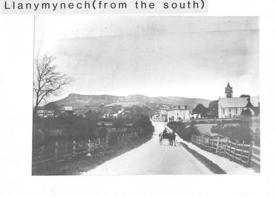PH-L-19-1 - Llanymynech from the south, 1905