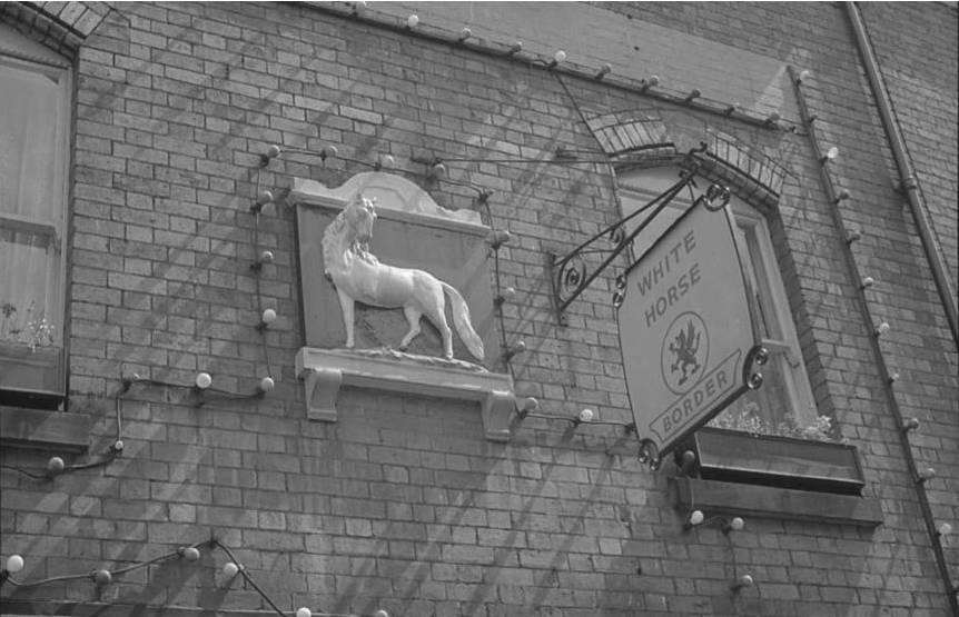 OSW-NEG-O-1-53 Church Street - White Horse Inn, 1963