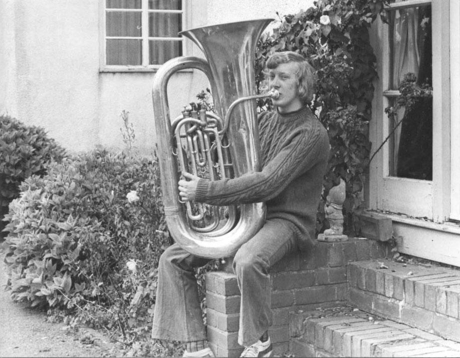 PH-P-18-2 -  Derek Davies member of Porthywaen Silver Band 1973