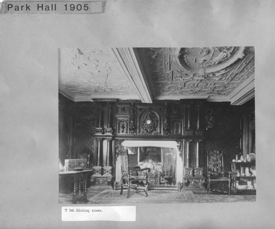 PH-P-2-3 -  The dining room, Park Hall Mansion 1905