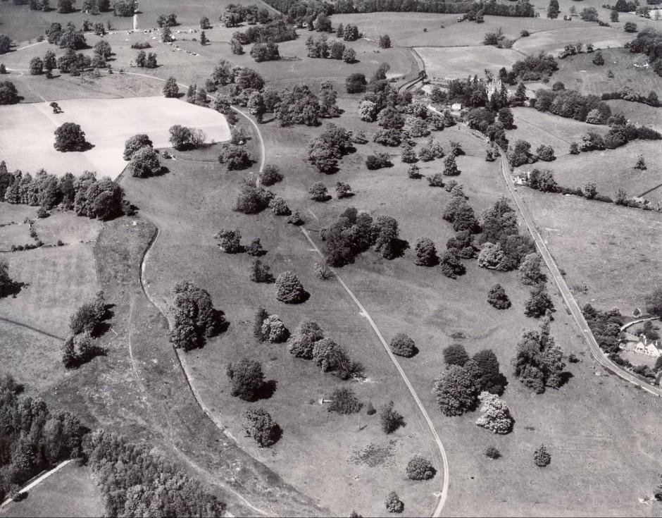 PH-B-28-10 Brogyntyn Land & Oakhurst. Aerial