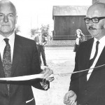 PH-L-43-2 - Llandrinio Institute 1973  Col J L Corbett-Winder cuts the tape watched by Dick Jones