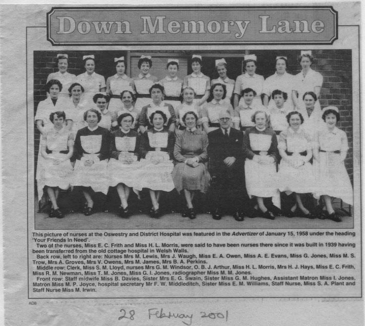 PH-O-5-13-9 - Oswestry Hospital - 1958