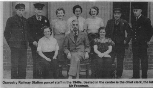 PH-O-5-16-57 - Oswestry Railway Station Parcel Staff - 1940