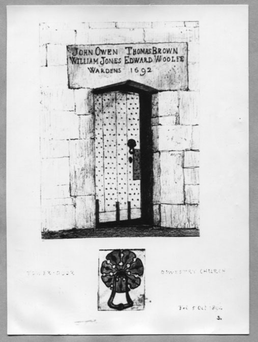 PH-O-5-6-101 - St Oswalds Tower Door - 5 Oct 1894