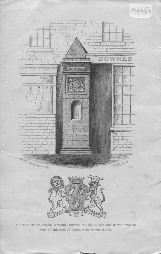 PH-O-5-6-103 - Pillar erected in 1782 on site of Newgate