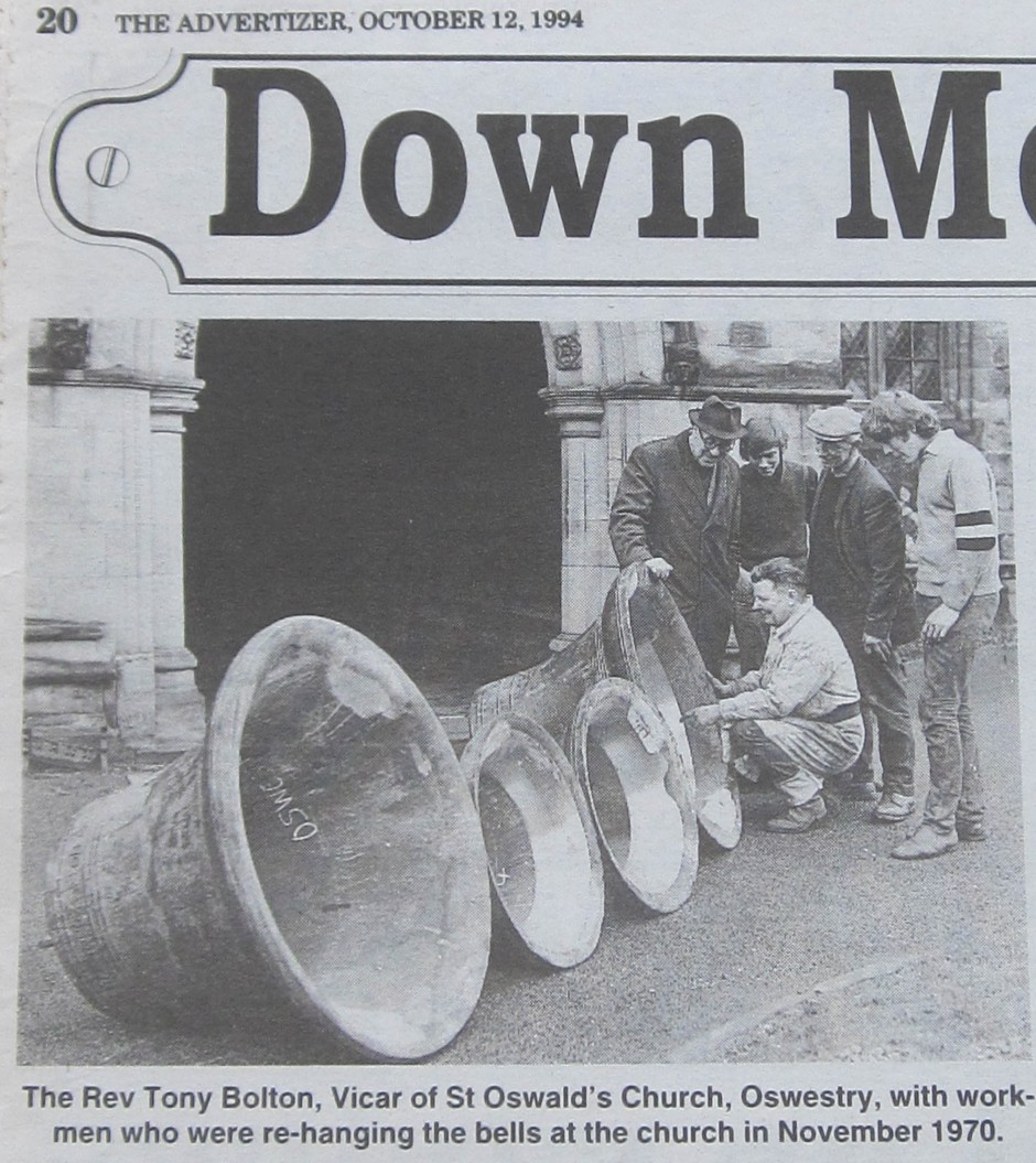 PH-O-5-6-92 - Re-hanging St Oswald's bells - 1970