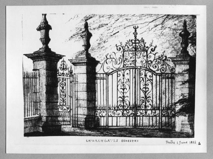 PH-O-5-6-99 - St Oswalds Church Gates - 1882