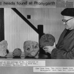 PH-B-82-1 - Celtic Heads found in Mr L Daniels cottage - 1964