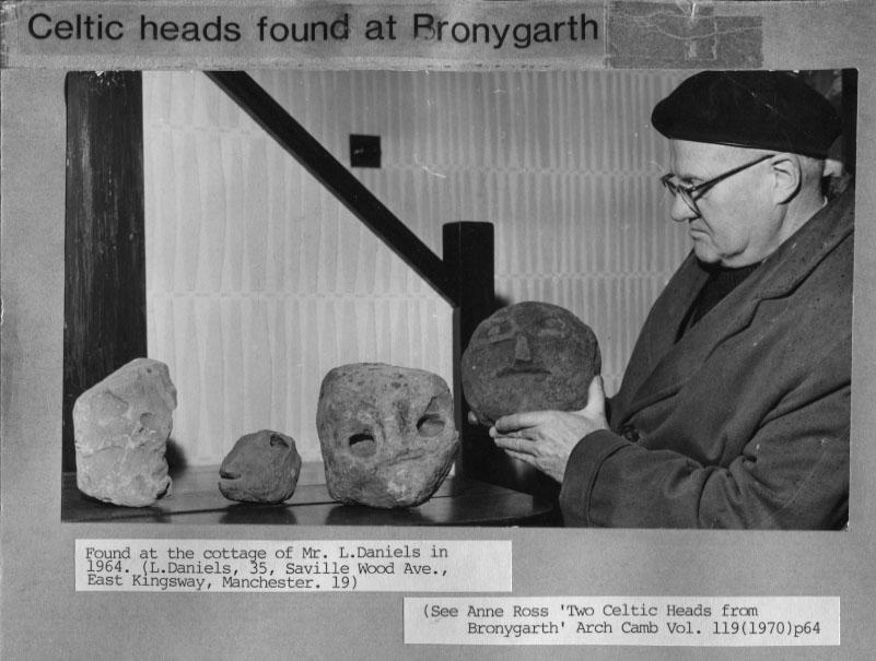 PH-B-82-1 - Celtic Heads found in Mr L Daniels cottage - 1964