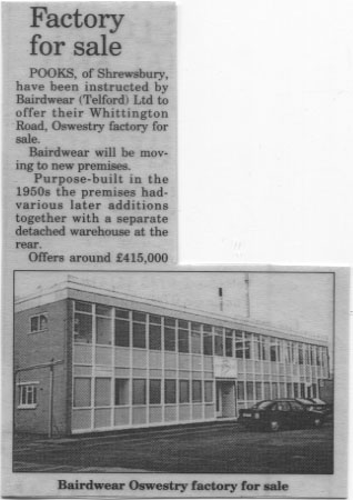 PH-O-5-38-7 - Bairdwear Factory for sale - 1994