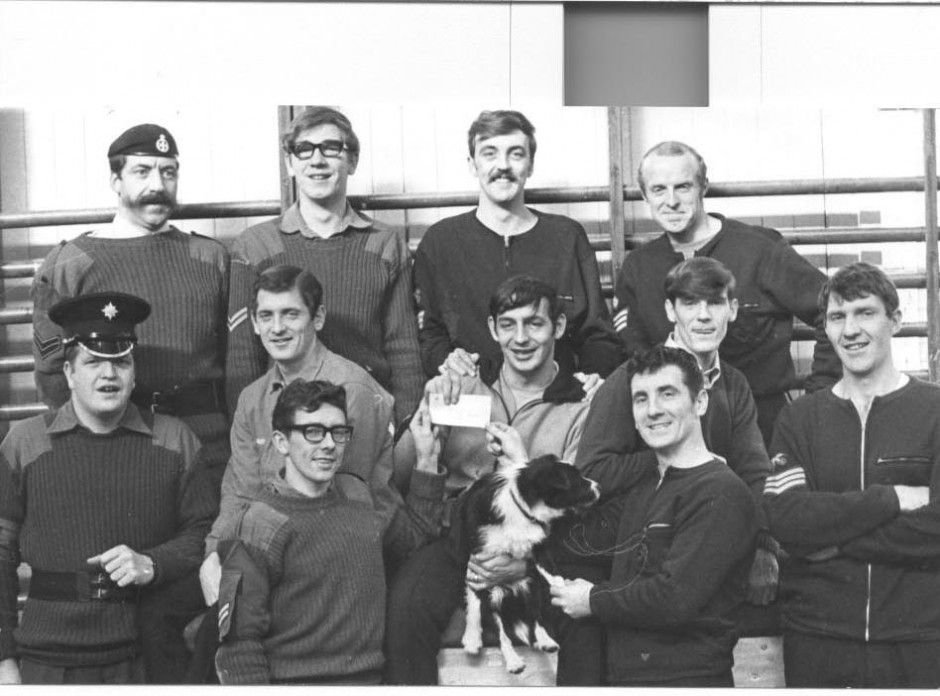 PH-P-30-7 - Group of NCOs who shared a football pools win 1973