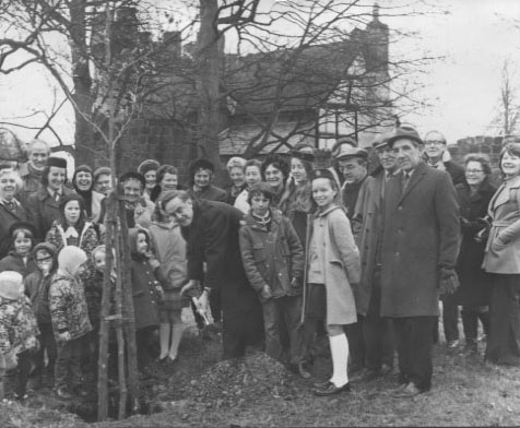 PH-W-20-13 - Cllr Dennis Morris plants a tree in castle 1973