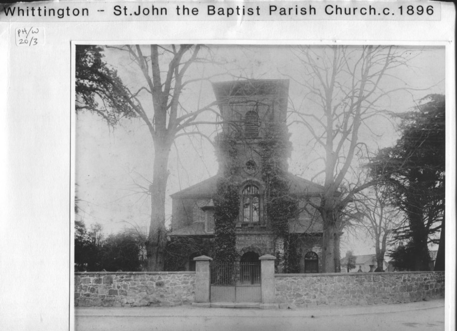 PH-W-20-3 - Parish Church, Whittington c1896