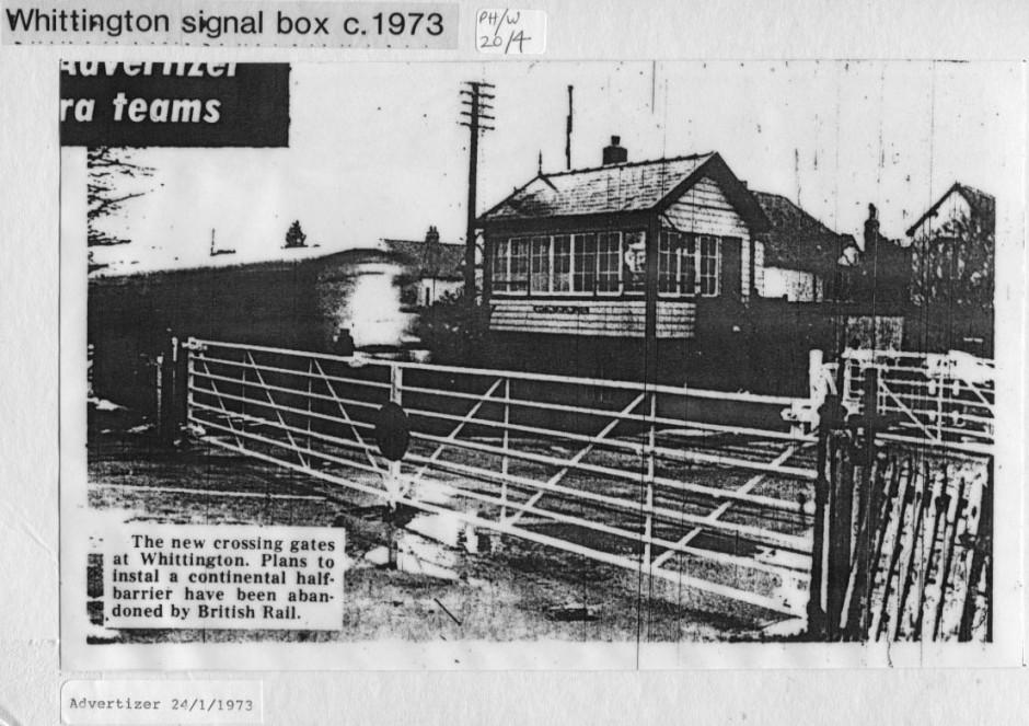 PH-W-20-4 - Whittington railway crossing 1973