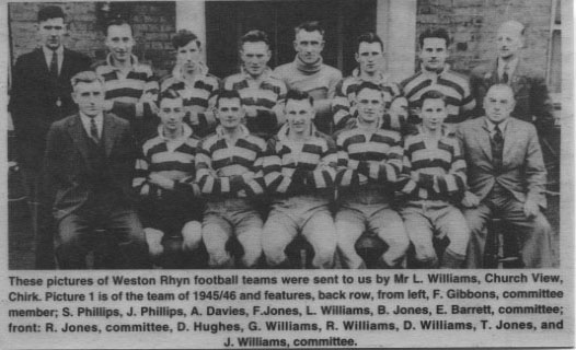PH-W-39-2 - Weston Rhyn Football team, 1945-46