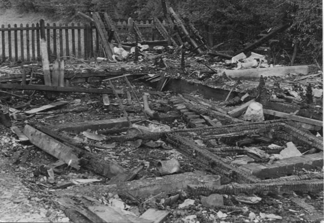 PH-W-39-6 - FC Clubhouse destroyed by fire, 1973