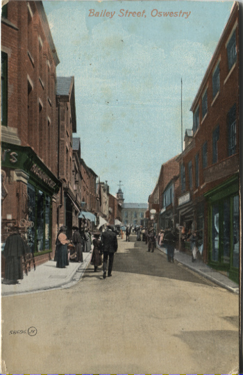 PC-O-5-3-18 - Bailey Street, shows Old Powis Hall – no date