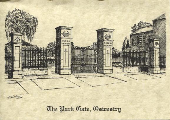 PC-O-5-6-121b - The Park Gates & War Memorial