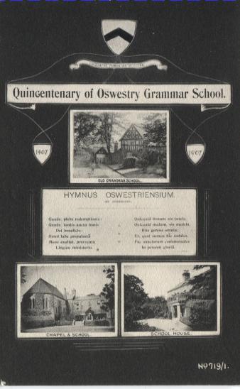 PC-O-85-4 - Quincentenary of Oswestry Grammar School 1407-1907