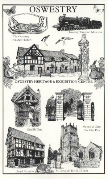 PC-O-MIS-18 - Views of Oswestry (Drawings) c 1990's