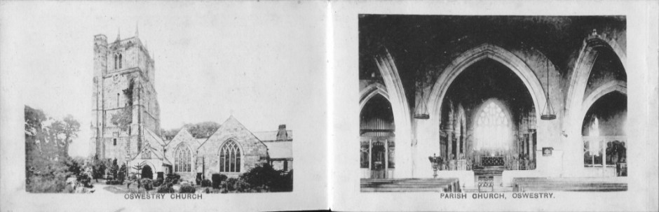 PC-O-MIS-20b - Booklet of Oswestry Postcards - 7 September 1898