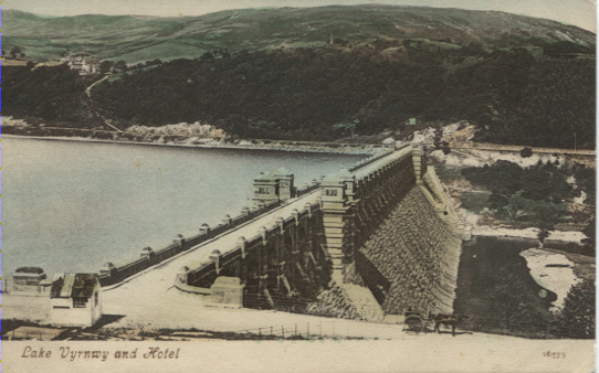 PC-S&B-56-20 - Lake Vyrnwy-1 - Lake & Hotel - no date