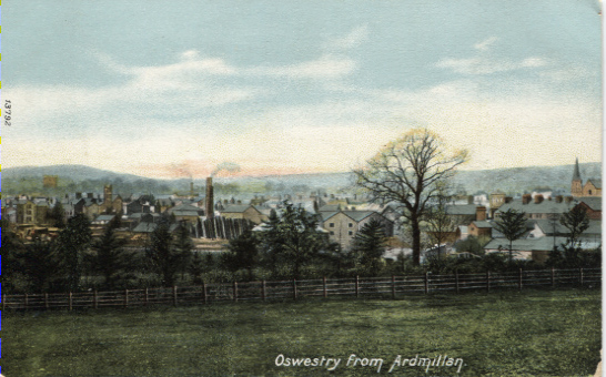 PC-S&B-56-21 - Views of Oswestry from Ardmillan - no date