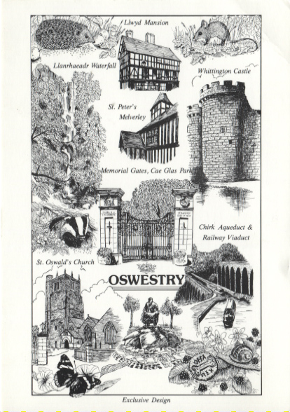 PC-S&B-56-22 - Views of Oswestry (Drawings) c 1990's