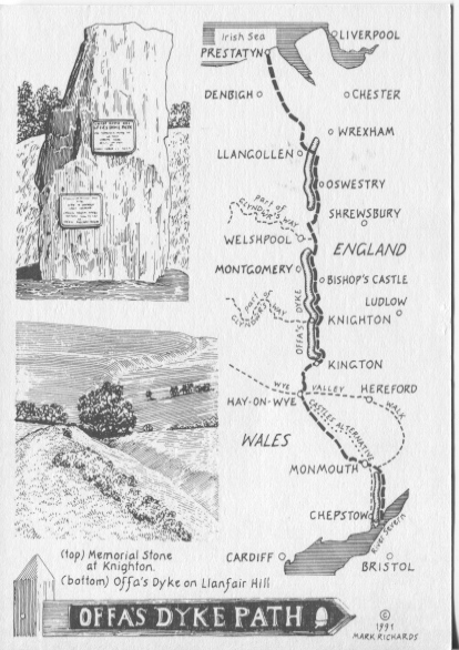 PC-S&B-56-27 - Offa's Dyke Path - Drawing of Route 1991