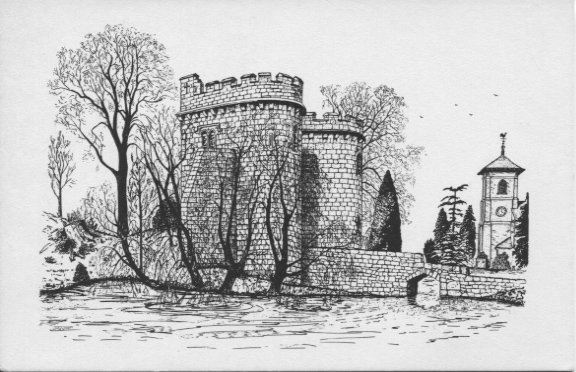 PC-W-20-20 - Whittington Castle Sketch