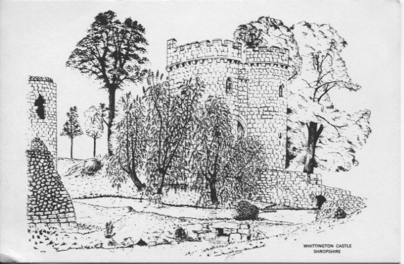 PC-W-20-21 - Whittington Castle Sketch