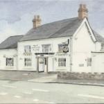 PC-W-39-10 - Cross Keys Pub a watercolour - 2003