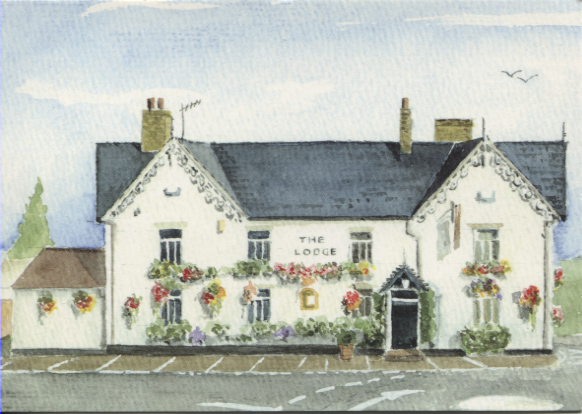 PC-W-39-11 - The Lodge a watercolour - 2003
