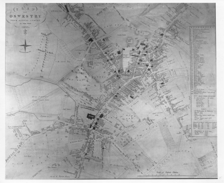 PH-O-5-1-81 - Map of Oswestry - 1833