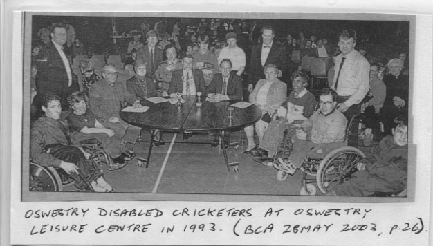 PH-O-5-15-117 - Disabled Cricketers at Leisure Centre - 1993