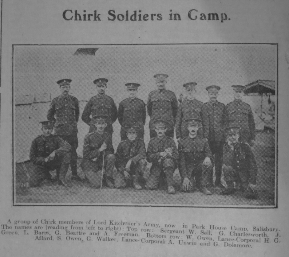 NP-WW1- Chirk Soldiers