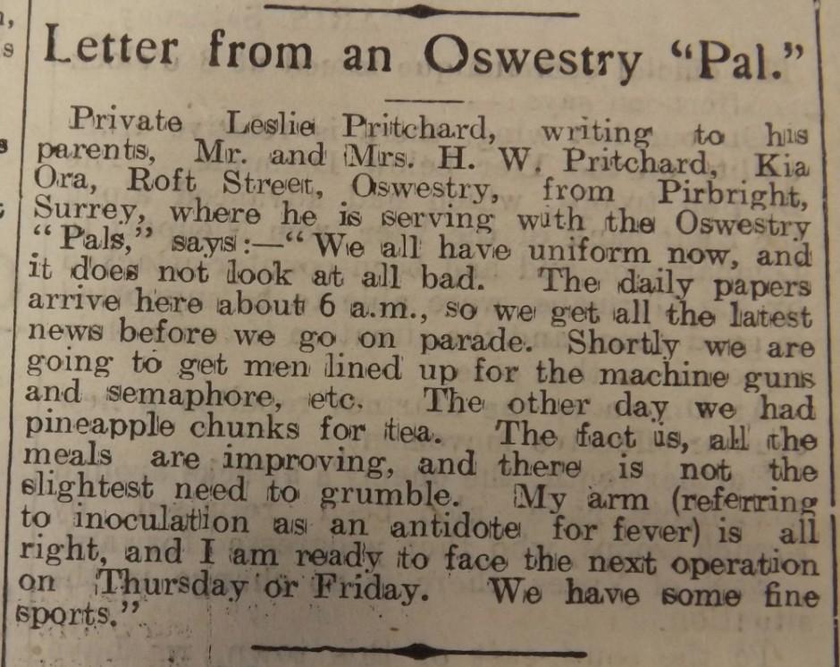 NP-WW1- Pritchard Leslie
