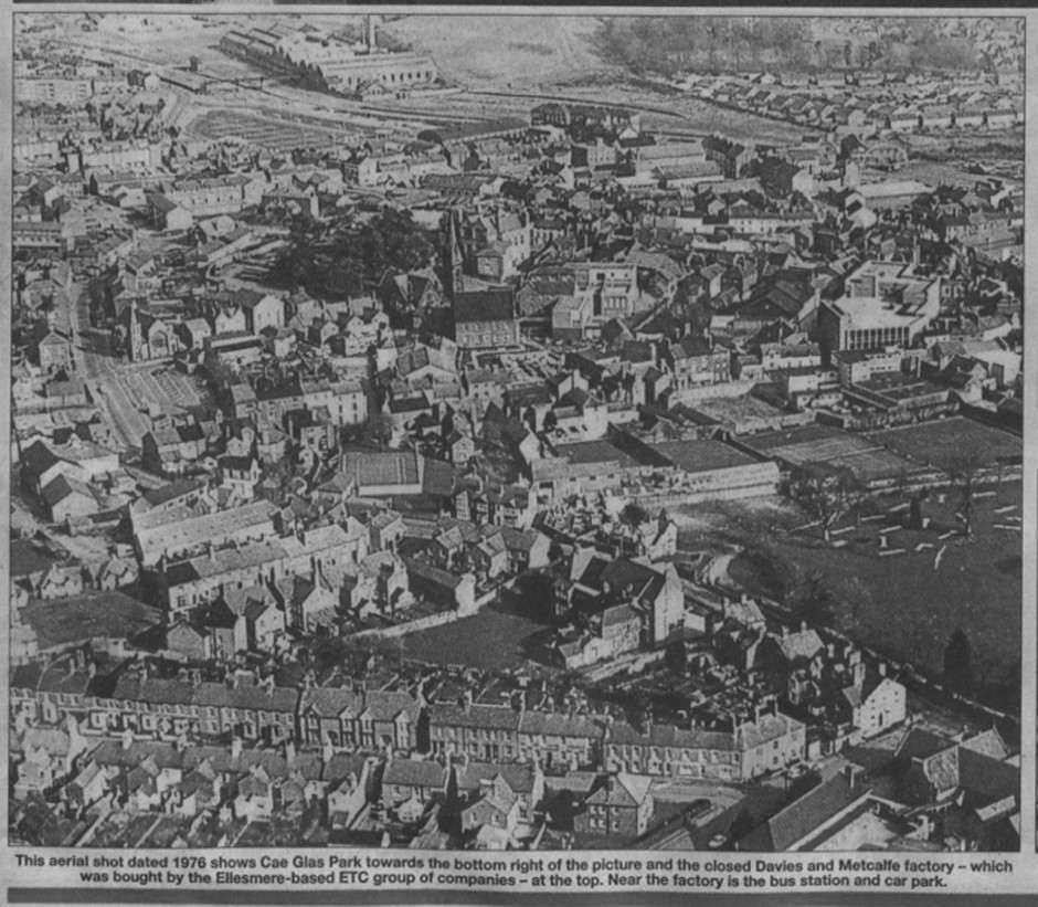 NP-O-5-1-83 - Aerial Map of Oswestry 1976