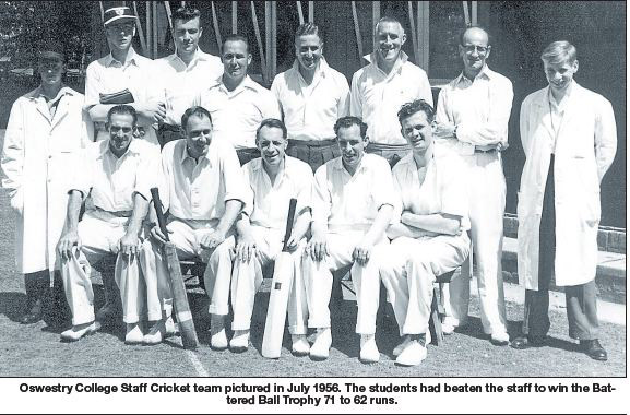 NP-O-5-53-7 - Oswestry College Cricket Team 1956