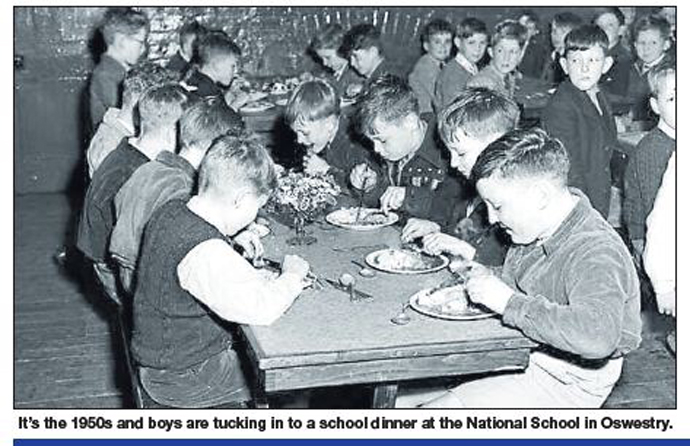 NP-O-5-57-13 - National School lunchtime in 1950s