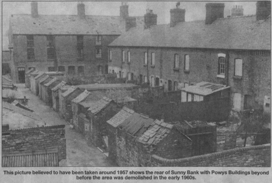 NP-O-Sunny Bank- 1 - Sunny Bank & Powys Buildings c1957