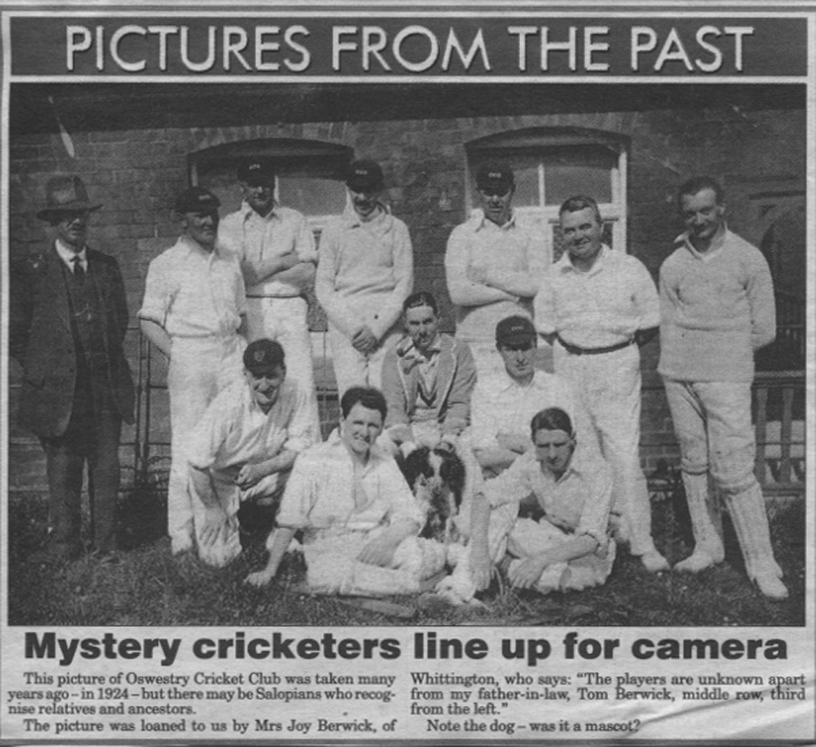 NP-Sport- 1 - Oswestry Cricket Club c1924